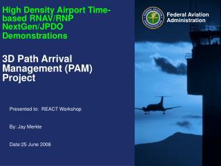 High Density Airport Time-based RNAV