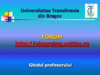 FORUM  elearning .unitbv.ro