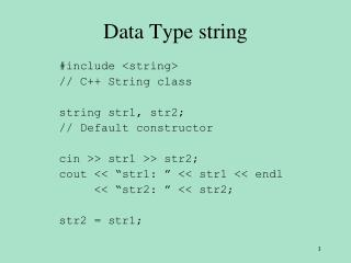 Data Type string