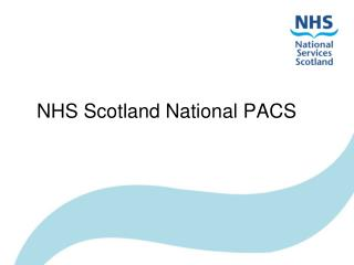 NHS Scotland National PACS