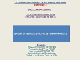 CENÁRIOS DA NEGOCIAÇÃO COLETIVA DE TRABALHO NO BRASIL