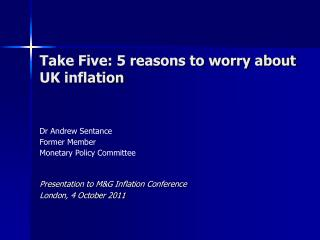 Take Five: 5 reasons to worry about UK inflation
