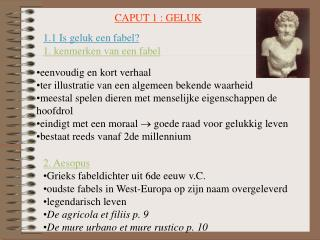 CAPUT 1 : GELUK
