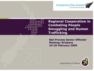 Regional Cooperation in Combating People Smuggling and Human Trafficking