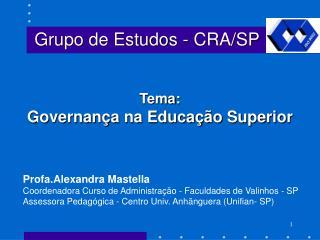 Grupo de Estudos - CRA/SP