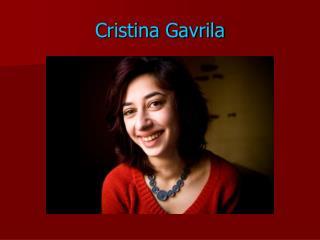 Cristina Gavrila