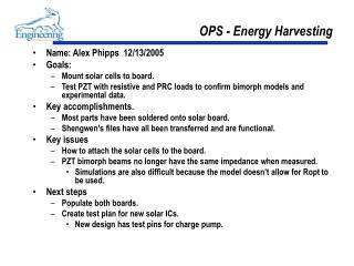 OPS - Energy Harvesting