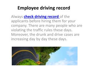 Check Driving Record