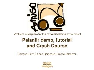 Palantir demo, tutorial and Crash Course