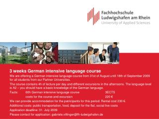 3 weeks German intensive language course