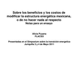 Alicia Puyana FLACSO Presentadas en el Simposium sobre la transici�n energetica