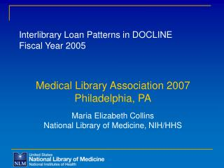 Interlibrary Loan Patterns in DOCLINE Fiscal Year 2005