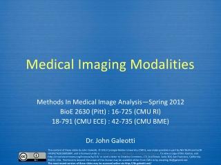 Nuclear Imaging: Emission Tomography I