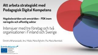Intervjuer  med  tre företag  och  två organisationer i  Finland och  Sverige