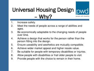 Universal Housing Design – Why?