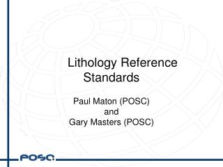 Lithology Reference Standards
