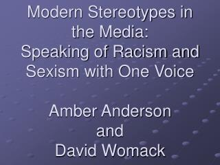 Stereotypes in Radio and Television