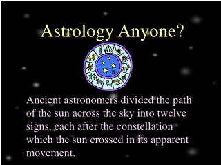 Astrology Anyone?