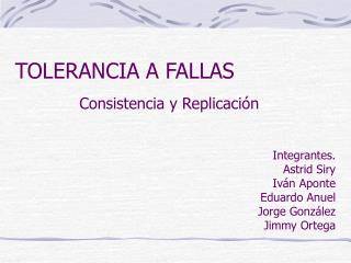 TOLERANCIA A FALLAS