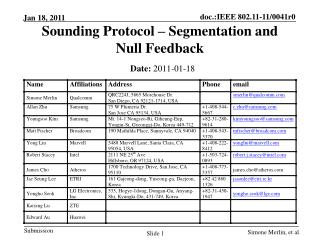 Sounding  Protocol  –  Segmentation  and  Null  F eedback