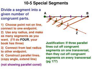 10-5 Special Segments