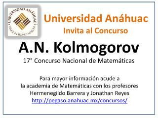 Universidad An�huac Invita al Concurso