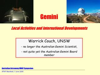 Australian Astronomy MNRF Symposium