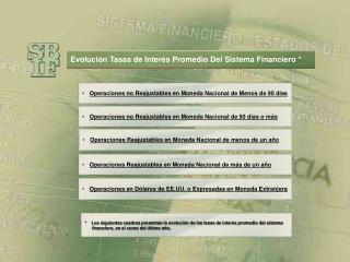 Operaciones no Reajustables en Moneda Nacional de Menos de 90 días