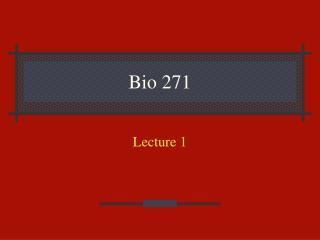 Bio 271