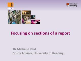 Focusing on sections of a report