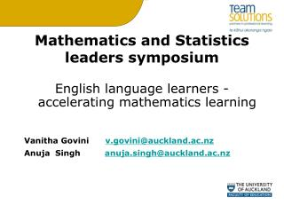 Mathematics and Statistics leaders symposium