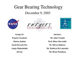 Gear Bearing Technology