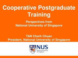 Cooperative Postgraduate Training