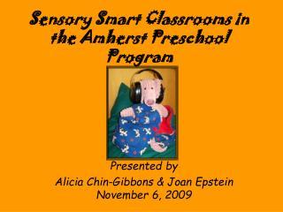 Sensory Smart Classrooms in the Amherst Preschool Program