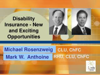 Disability Insurance - New and Exciting Opportunities