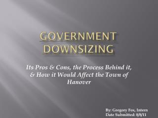 Government Downsizing