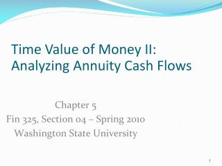 time value of money analysis
