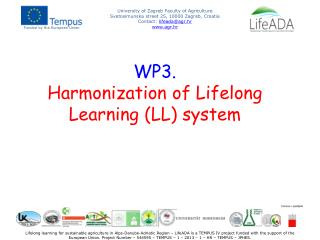 WP3. Harmonization of Lifelong Learning (LL) system