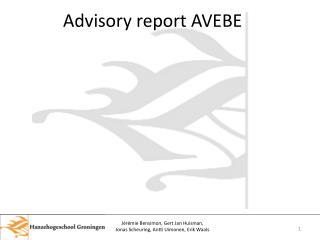 Advisory report AVEBE