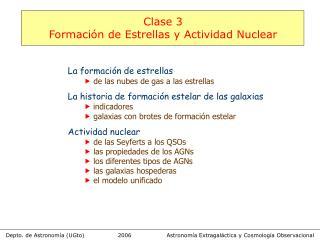 Astronomía Extragaláctica y Cosmología Observacional