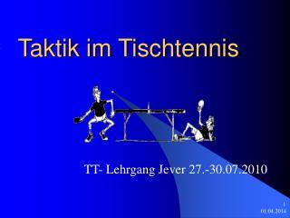 Taktik im Tischtennis