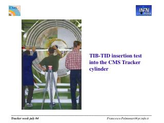 TIB-TID insertion test into the CMS Tracker cylinder
