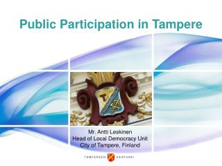 Public Participation in Tampere