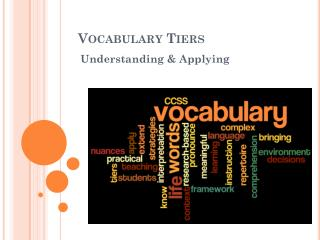 Vocabulary Tiers