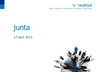 junta      17 abril 2013