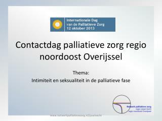 Contactdag palliatieve zorg regio noordoost Overijssel
