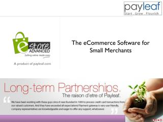 The eCommerce Software for Small Merchants