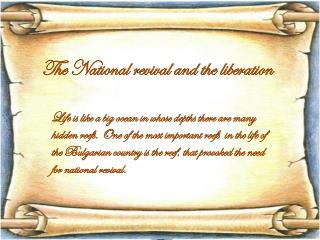The National revival and the liberation