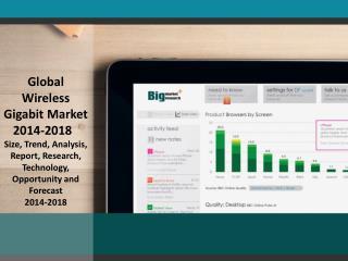Global Wireless Gigabit Market  Size, Trend, Analysis, Repor
