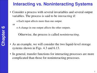 Interacting vs. Noninteracting Systems